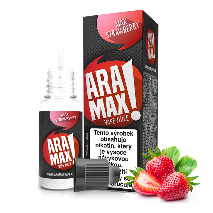 E-liquid Aramax 10ml / 12mg: Jahoda (Max Strawberry)