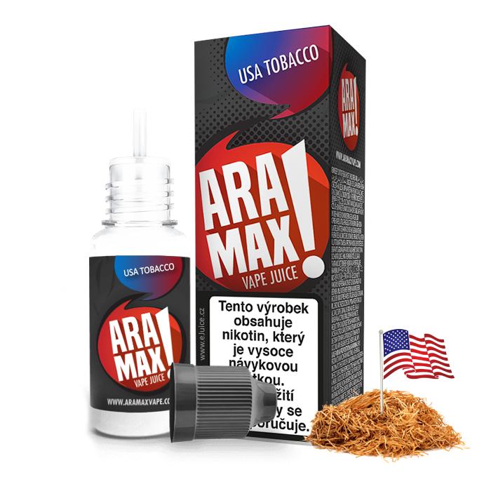 E-liquid Aramax 10ml / 12mg: USA Tobacco (Tabák)