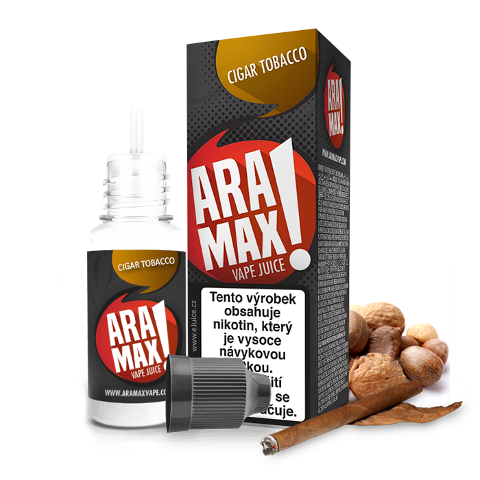 E-liquid Aramax 10ml / 18mg: Cigar Tobacco (Tabák)