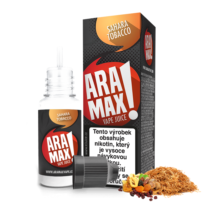 E-liquid Aramax 10ml / 18mg: Sahara Tobacco (Tabák)