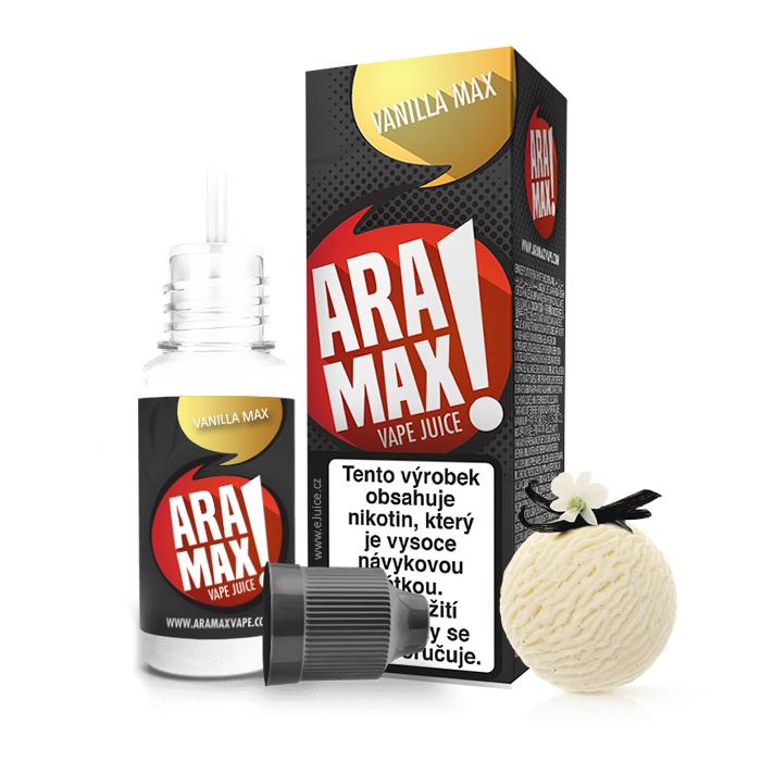 E-liquid Aramax 10ml / 18mg: Vanilka (Vanilla Max)
