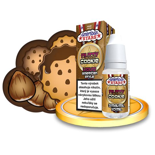 E-liquid American Stars 10ml / 3mg: Nutty Buddy Cookie
