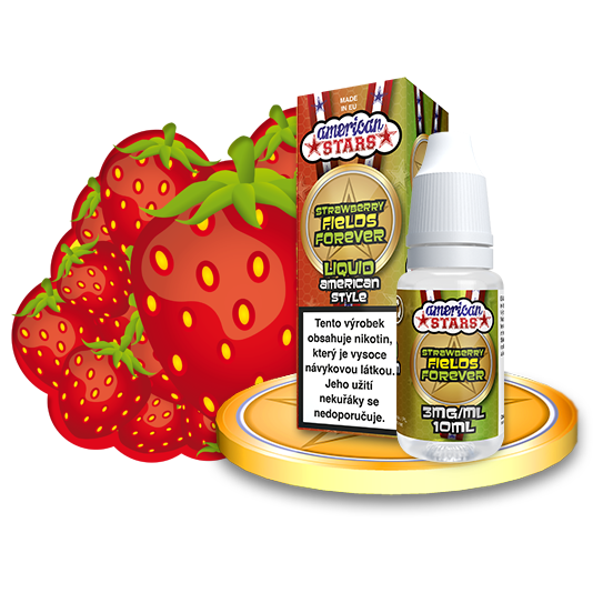 E-liquid American Stars 10ml / 3mg: Strawberry Fields Forever