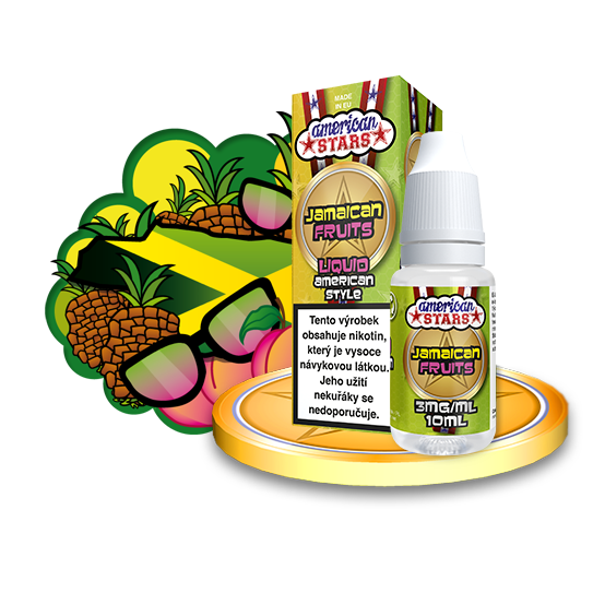 E-liquid American Stars 10ml / 3mg: Jamaican Fruits