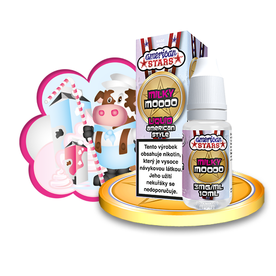 E-liquid American Stars 10ml / 3mg: Milky Moooo