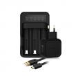 Avatar multifunkční nabíječka baterií (3 sloty) (Černá)