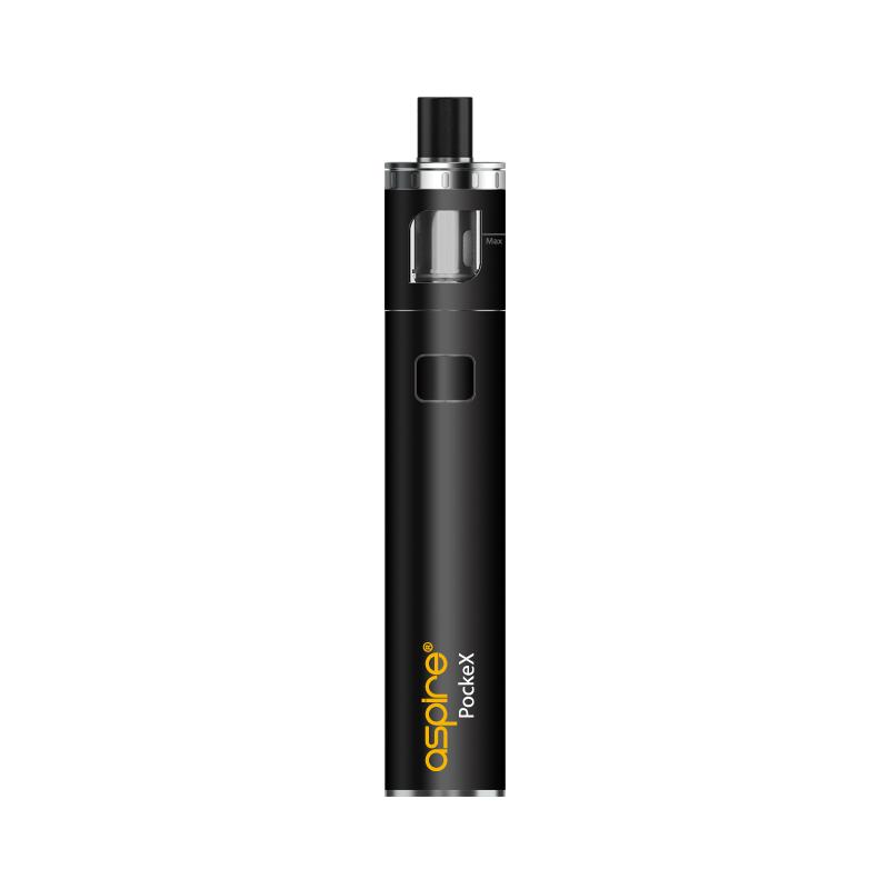 Elektronická cigareta: Aspire PockeX AIO (1500mAh) (Černá)