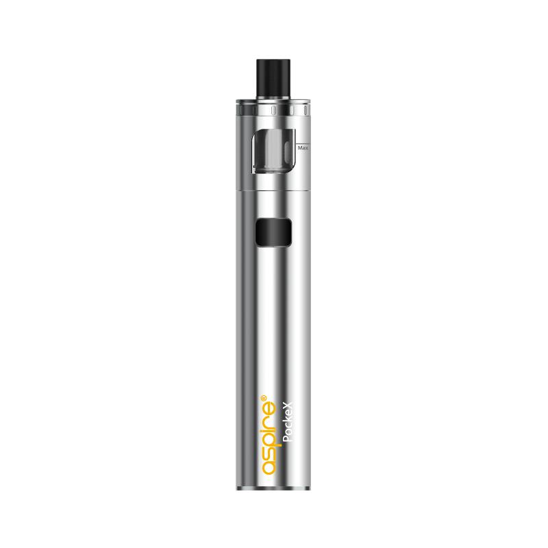 Elektronická cigareta: Aspire PockeX AIO (1500mAh) (Stříbrná)