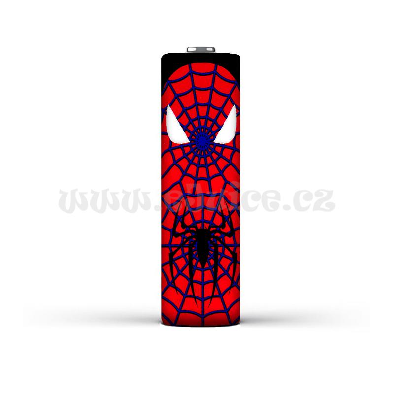 Smršťovací folie pro baterie 18650 s potiskem (Spiderman)