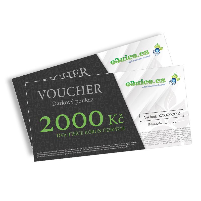 Elektronický dárkový poukaz / voucher na 2000 Kč