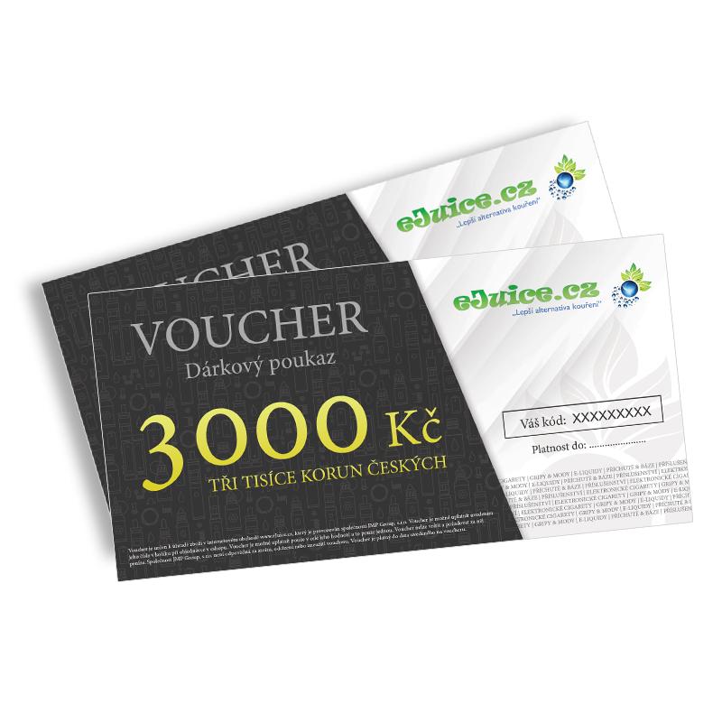 Elektronický dárkový poukaz / voucher na 3000 Kč