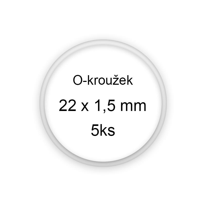 Sada O-kroužků / těsnění 22x1,5 mm (5ks)
