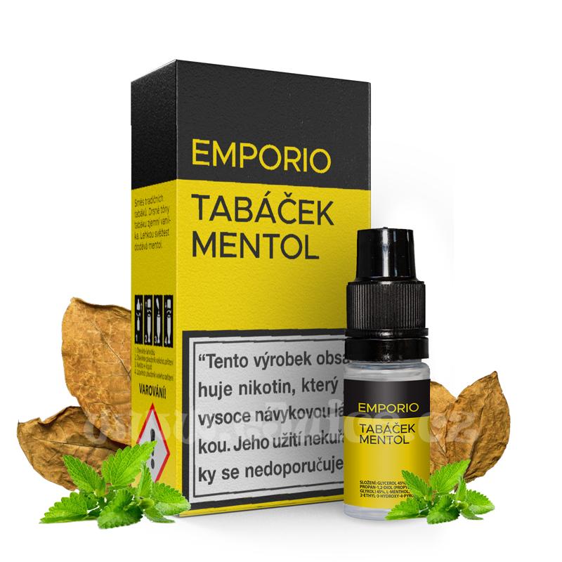 E-liquid Emporio 10ml / 1,5mg: Tabáček Mentol