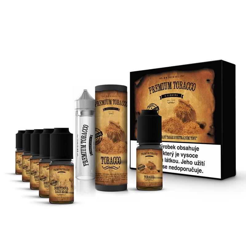 E-liquid DIY sada Premium Tobacco 6x10ml / 3mg: Tobacco