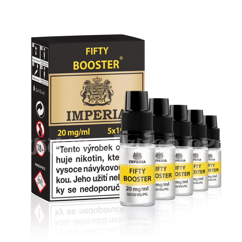 Booster báze Imperia Fifty (50/50): 5x10ml / 20mg
