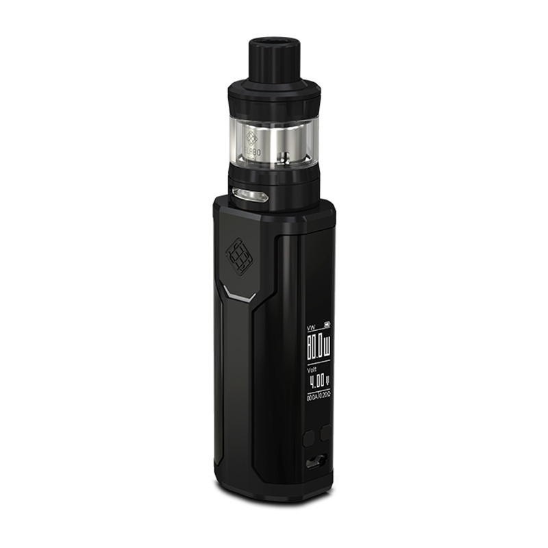 Elektronický grip: Wismec Sinuous P80 Kit s Elabo Mini (Černý)