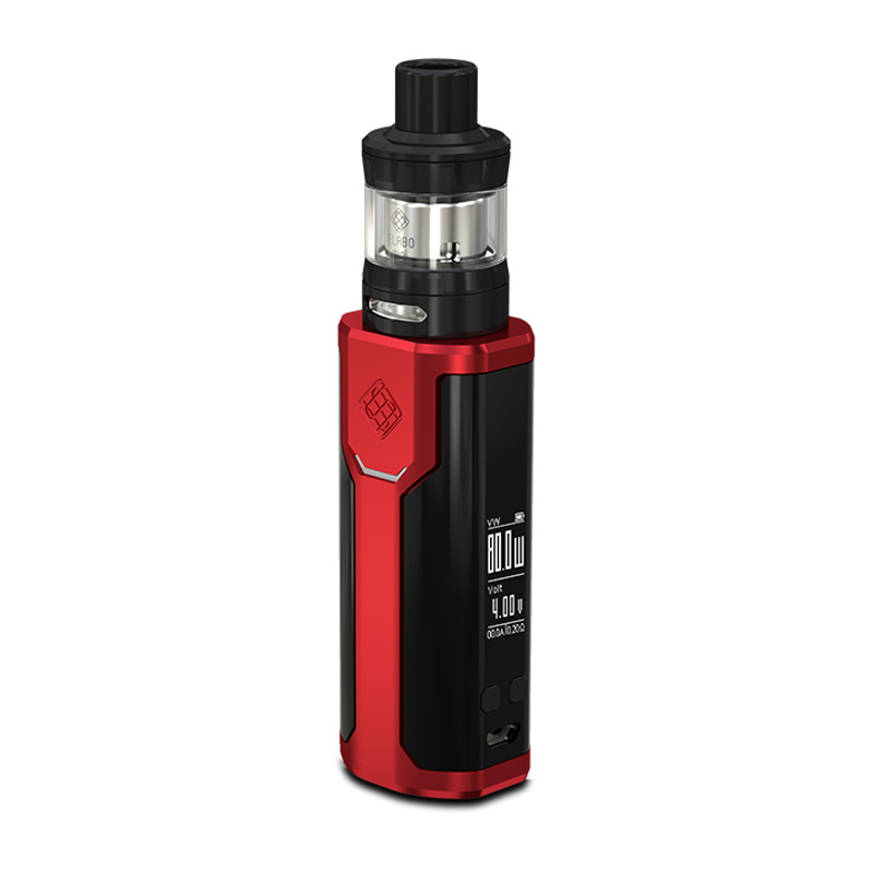 Elektronický grip: Wismec Sinuous P80 Kit s Elabo Mini (Červený)