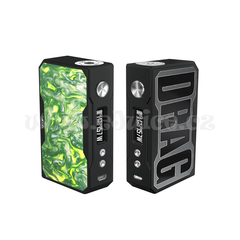 Elektronický grip: VooPoo Drag 157W Black Resin (Jade)