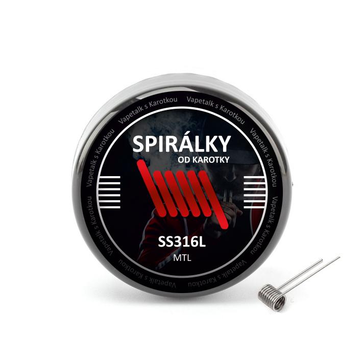 Spirálky od Karotky - MTL SS316L 1,0ohm (10ks)