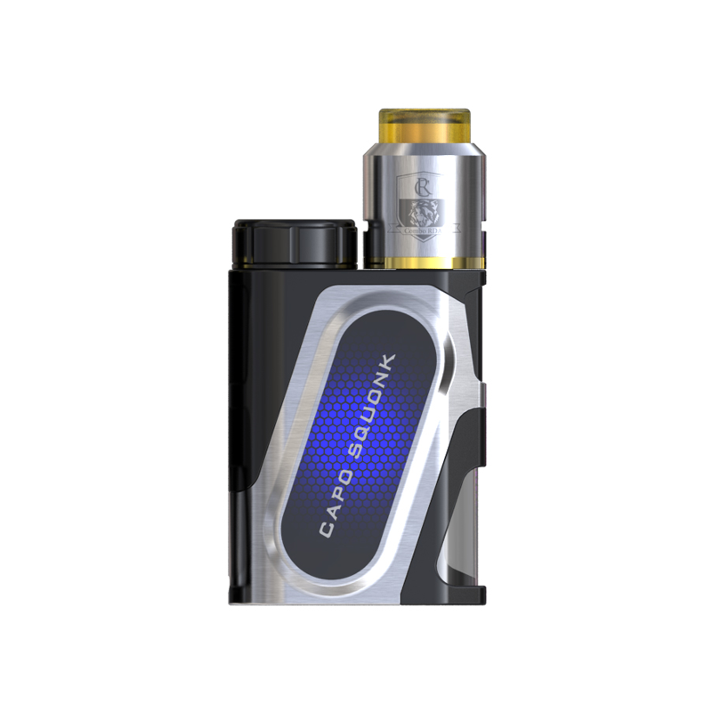 Elektronický grip: IJOY CAPO Squonker Kit s Combo RDA Triangle (Stříbrný)