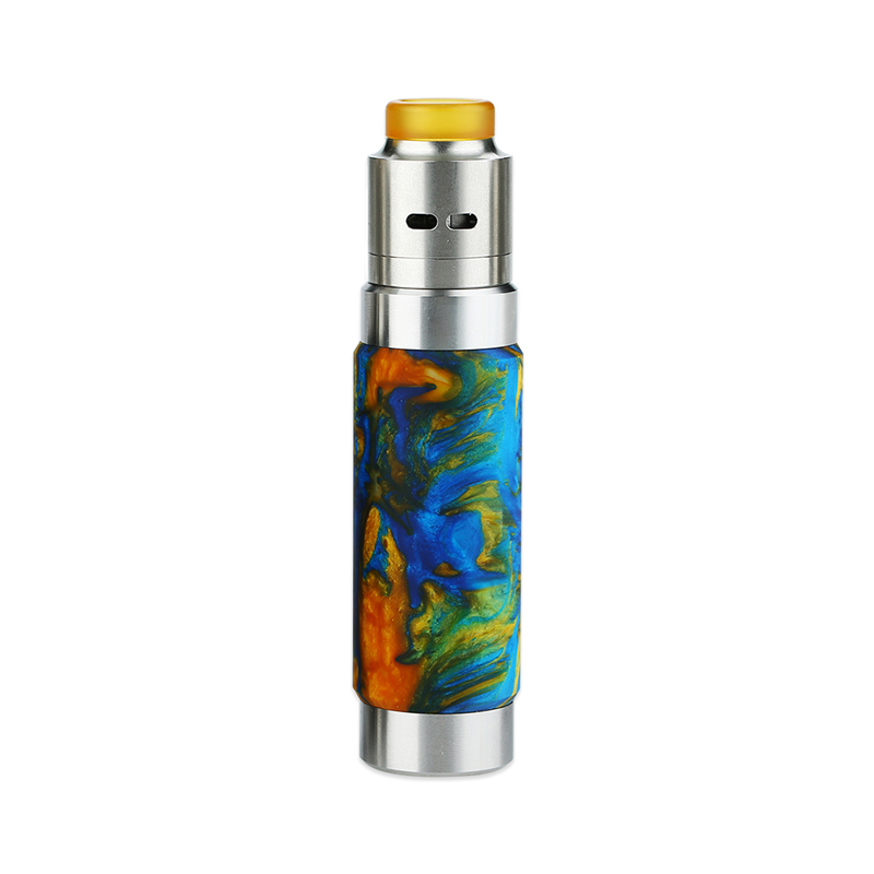 Mechanický grip: WISMEC Reuleaux RX Machina Kit s Guillotine RDA (Swirled Metallic Resin)