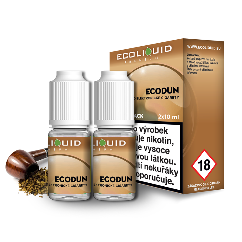 E-liquid Ecoliquid Double Pack 2x10ml / 12mg: ECODUN