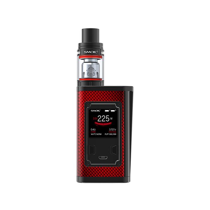 Elektronický grip: SMOK Majesty 225W Kit s TFV8 X-Baby (Carbon Red)