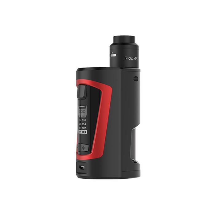 Elektronický grip: GeekVape GBOX Squonker Kit s Radar RDA (Black & Red)