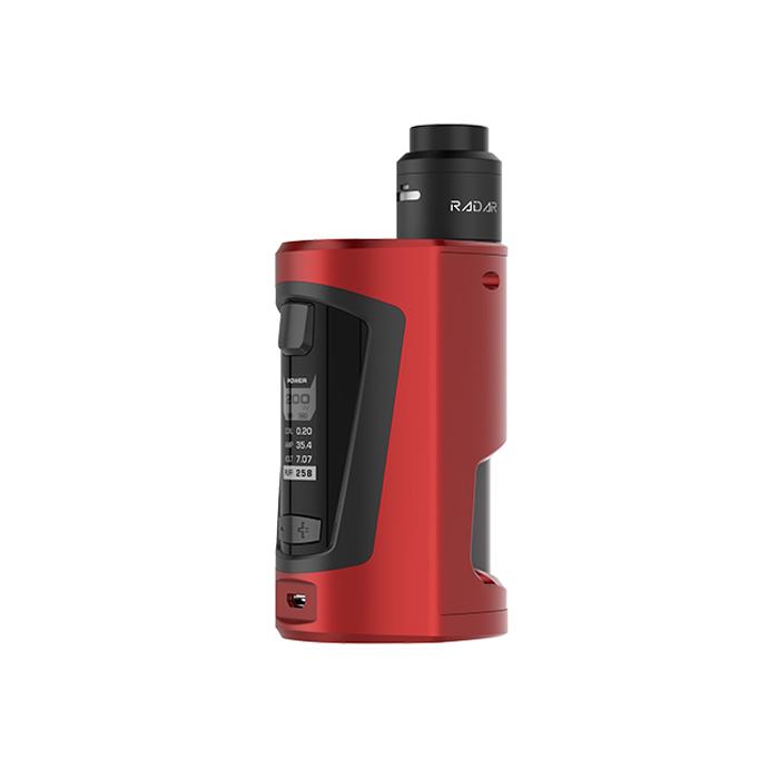Elektronický grip: GeekVape GBOX Squonker Kit s Radar RDA (Wine Red)