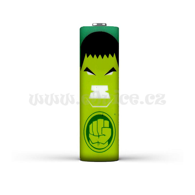 Smršťovací folie pro baterie 18650 s potiskem (Hulk 2)