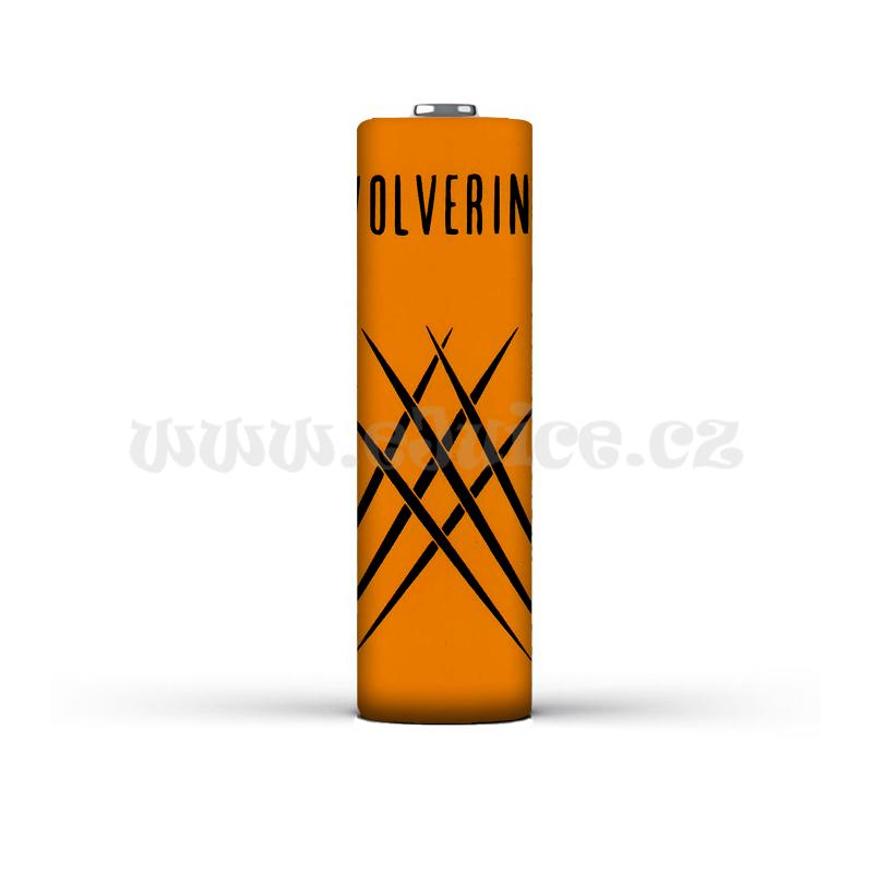 Smršťovací folie pro baterie 18650 s potiskem (Wolverine logo)