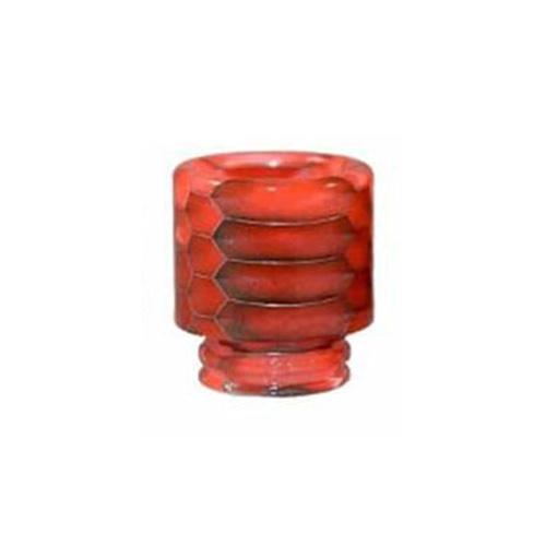 Resinový náustek 510 Snake Skin Drip Tip (Red)