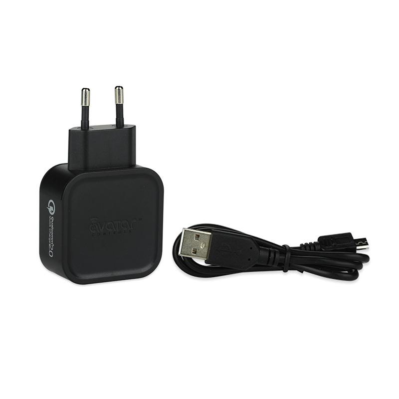 Rychlonabíječka Avatar USB QC2.0 Quick Charger (Černá)