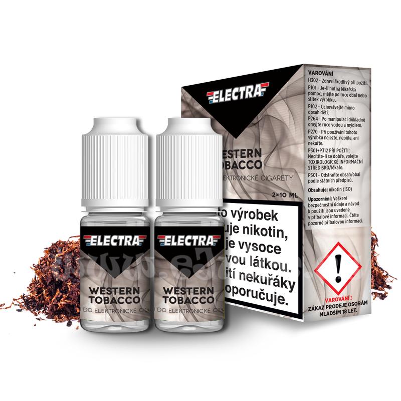 E-liquid Electra 2x10ml / 0mg: Western Tobacco