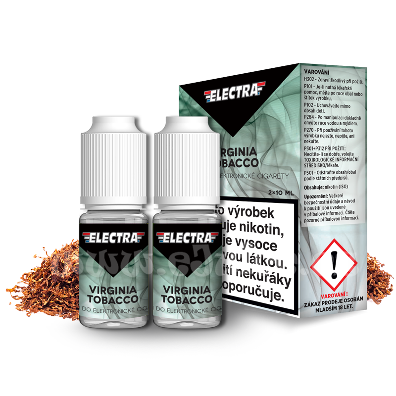 E-liquid Electra 2x10ml / 0mg: Virginia Tobacco