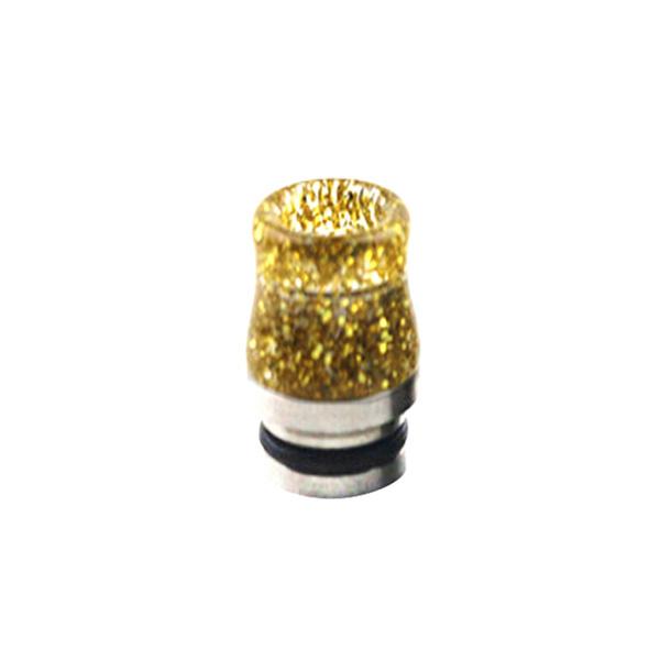 Nerezovo-resinový náustek 810 s flitry (Zlatý)