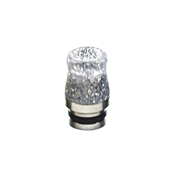 Nerezovo-resinový náustek 810 s flitry (Stříbrný)