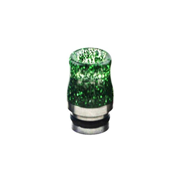 Nerezovo-resinový náustek 810 s flitry (Zelený)