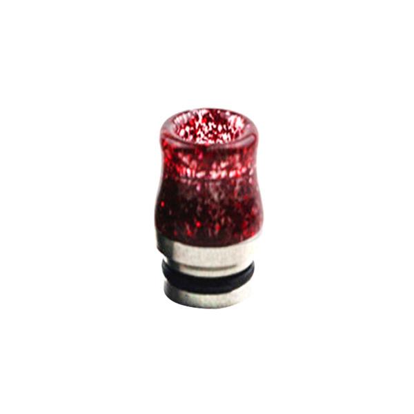 Nerezovo-resinový náustek 810 s flitry (Červený)