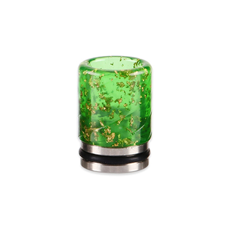 Resinový náustek 810 s flitry (Zelený)
