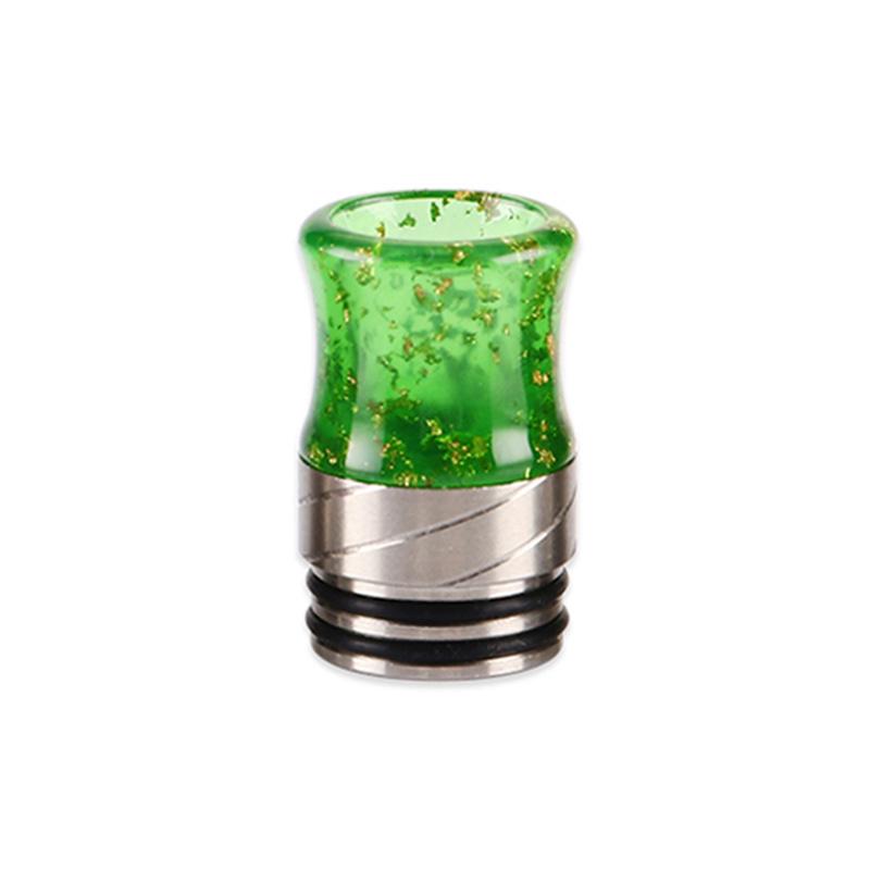 Resinový náustek 810 s flitry - kuželkový (Zelený)