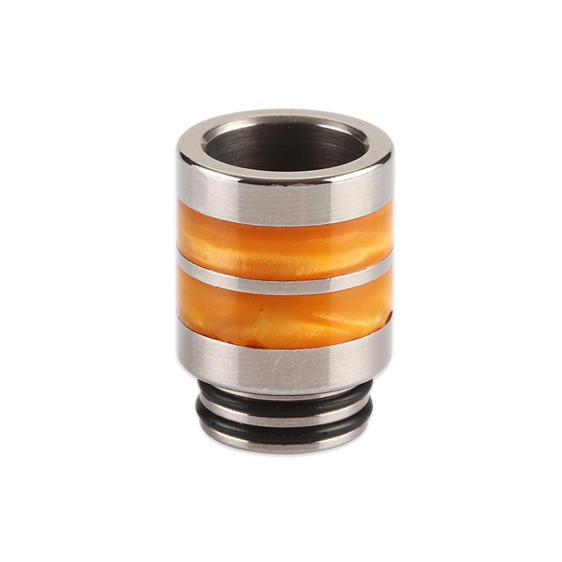 Nerezový náustek 810 s resinovými pruhy (Oranžový)