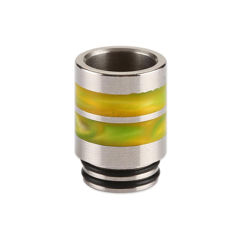 Nerezový náustek 810 s resinovými pruhy (Žlutý)