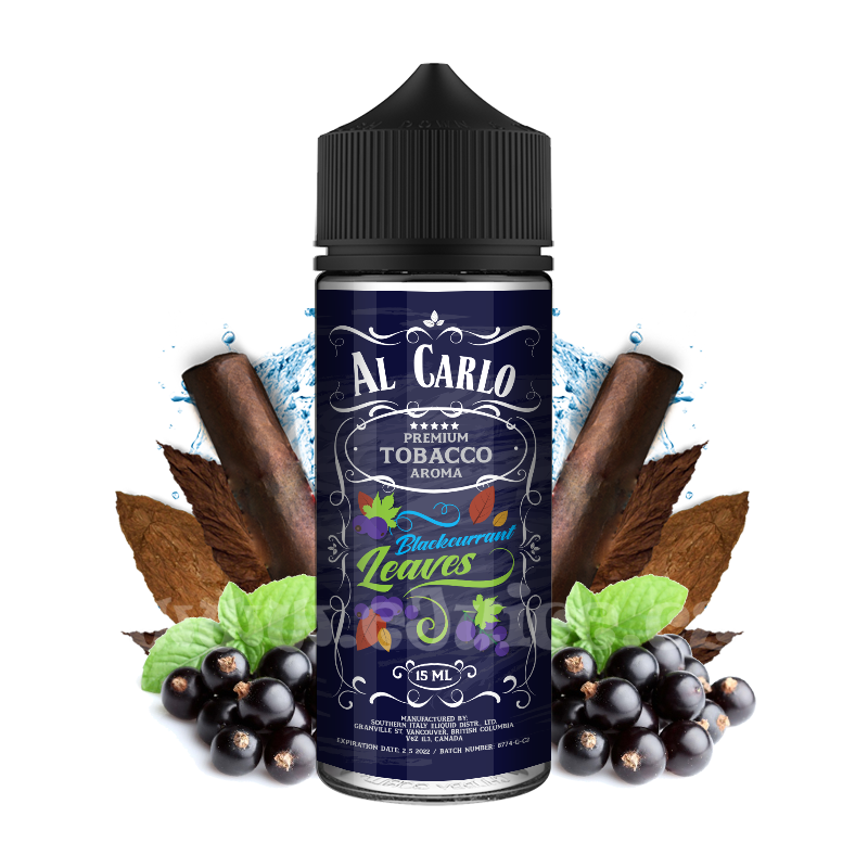 Příchuť Al Carlo Shake & Vape: Blackcurrant Leaves (Černý rybíz & tabák) 15ml