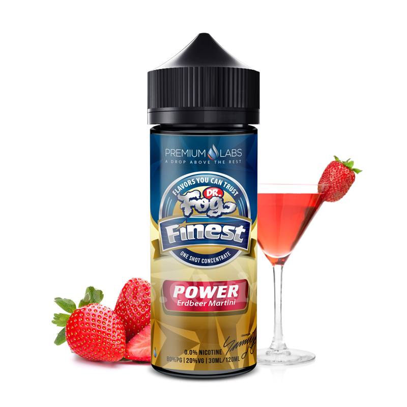 Příchuť Dr. Fog Finest: Power (Jahodové martini) 30ml