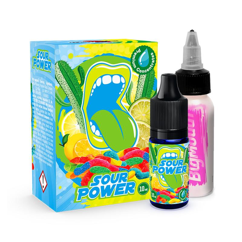 Příchuť Big Mouth: Sour Power (Kaktusovo-citrusové kyselé želé bonbony) 10ml
