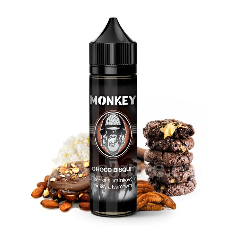 Příchuť Monkey S&V: Choco Bisquit (Pralinková sušenka s tvarohem) 8ml