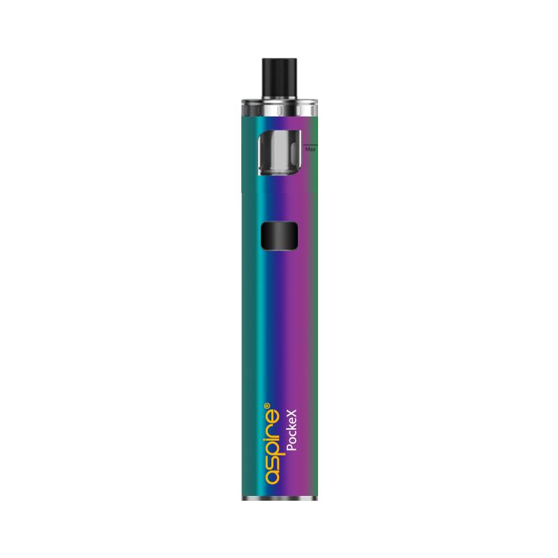 Elektronická cigareta: Aspire PockeX AIO (1500mAh) (Duhová)