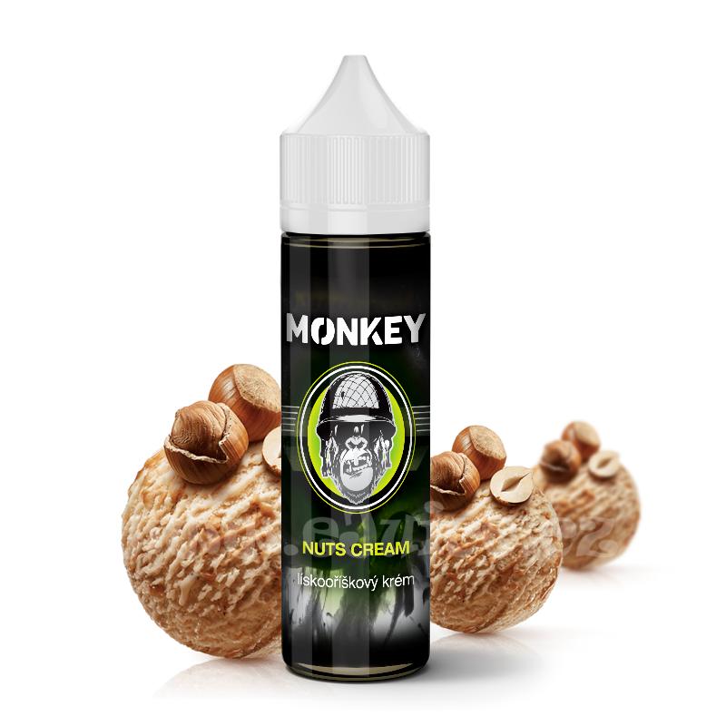 Příchuť Monkey S&V: Nuts Cream (Lískooříškový krém) 12ml