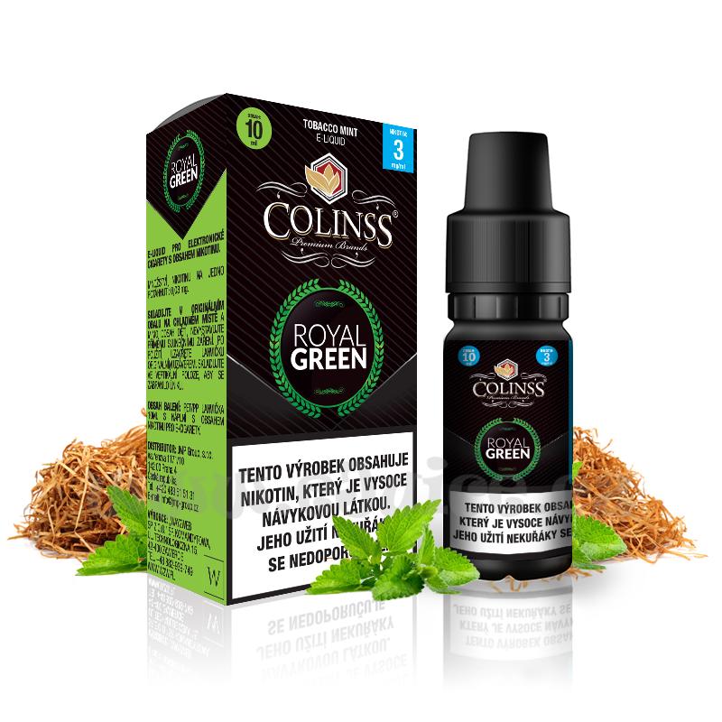 E-liquid Colinss 10ml / 0mg: Royal Green (Tabák s mátou)